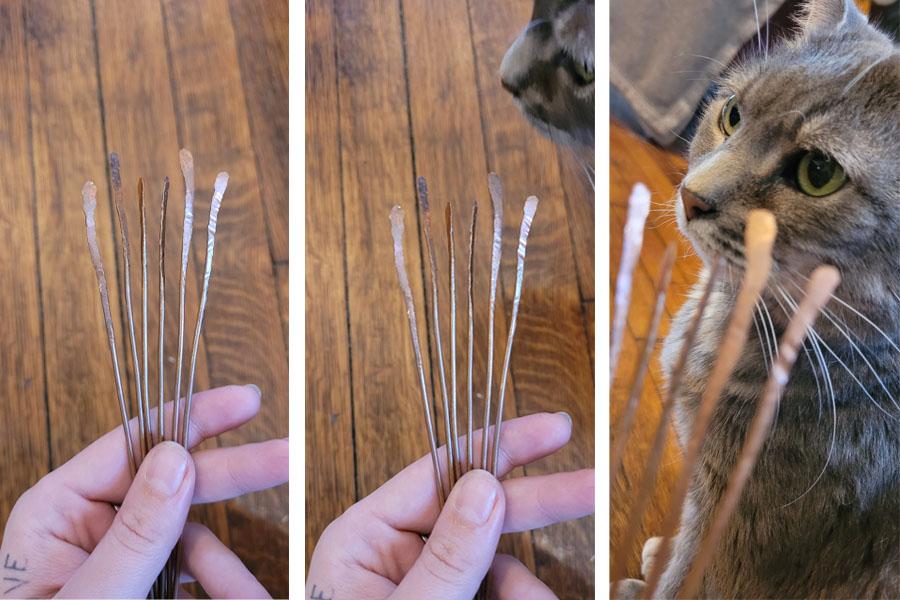 Tumnus Moran Cat helps with Sculpture II