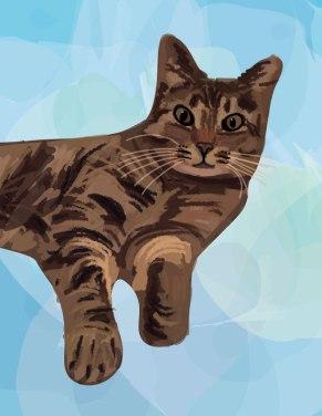 brown cat cartoon