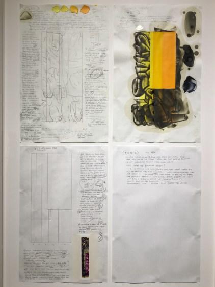 Set of four sketchbook pages