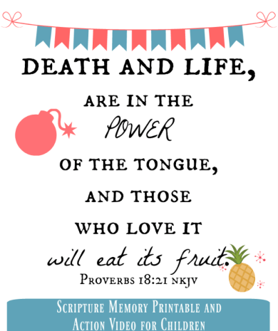 Power of the Tongue Printable