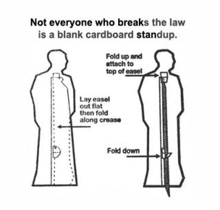 Cardboard Standup_Where Excuses Go to Die