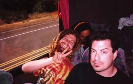 Marijuana Storyteller Captive Audience_Yours truly on Fishbone Tour Bus circa 1997