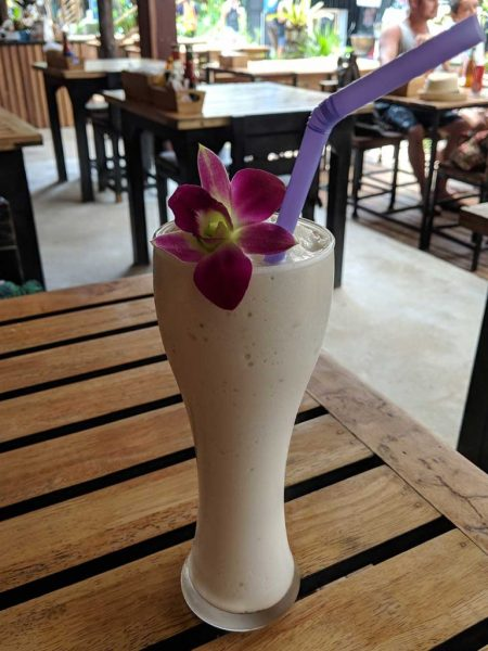Thailand Beaches: Banana milkshake ordered on Railay