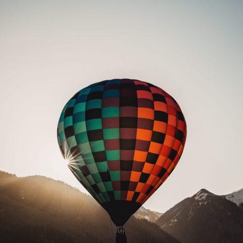 Balloon over mountain landscape rehab Florida
