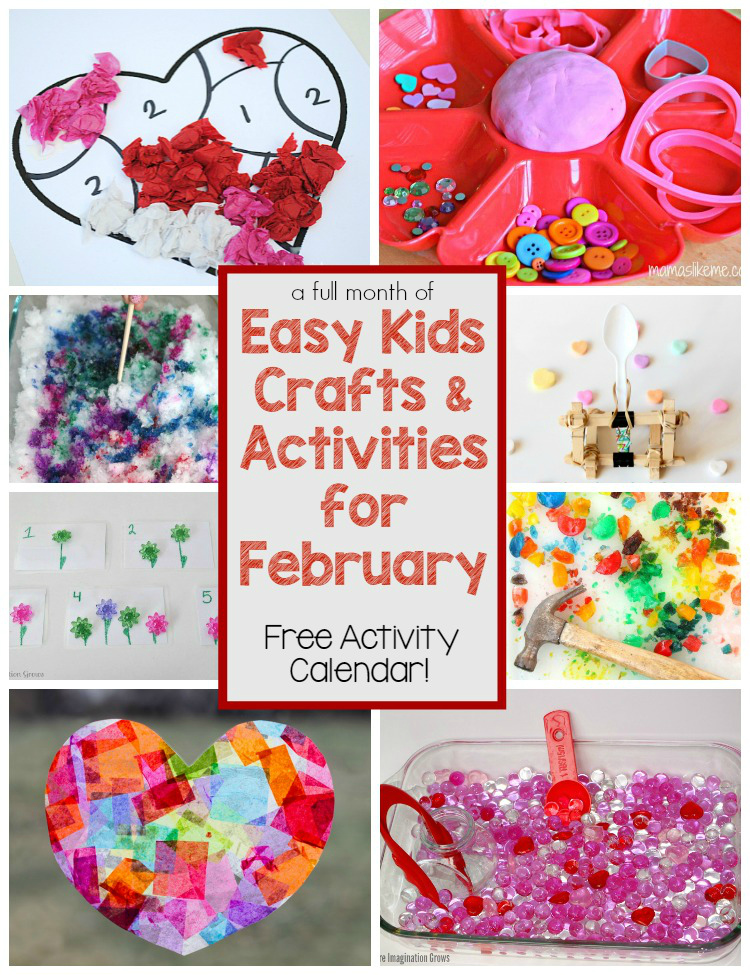 A Month Of Crafts Amp Kids Activities For February Where