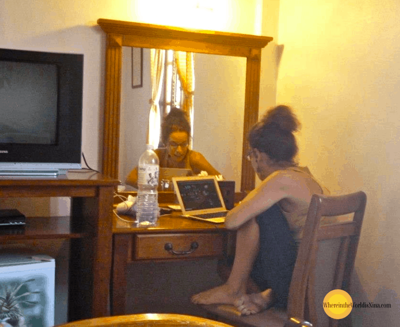 I work online now, which is fantastic for a traveler! - long-term traveler tips