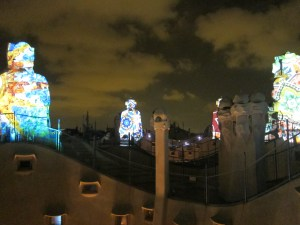 Night tour of La Pedrera is a MUST!