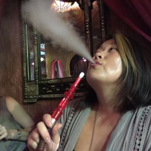 Apple flavored hookah is a great dessert