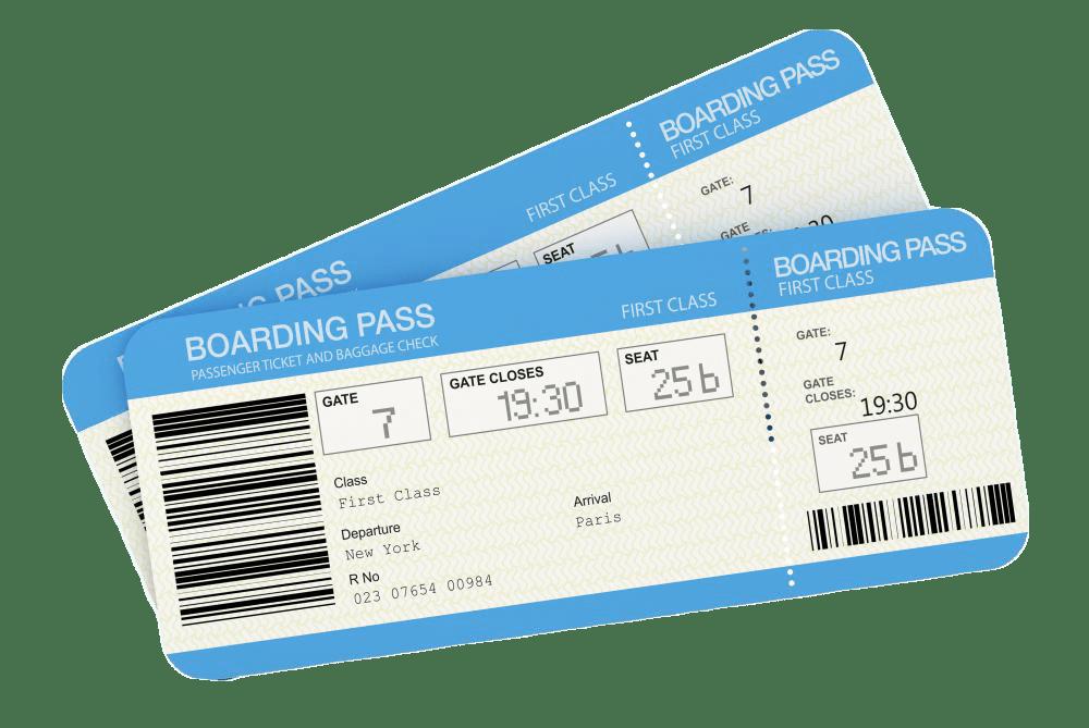 airplane boarding passes