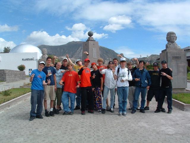 team kor at the ecuator
