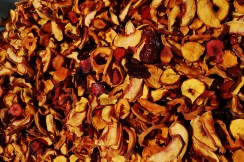 Dried peaches, plums, apricots