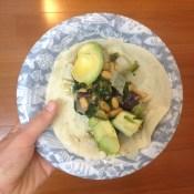 Vegan breakfast taco