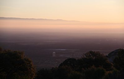 White Sands city at sunrise