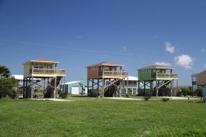 This is how houses are built in the swamps