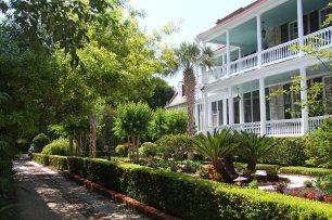driveway, garden, house. Pretty!