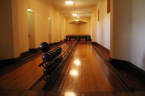 The basement, the bowling alley