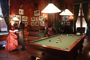 The billard and pool room
