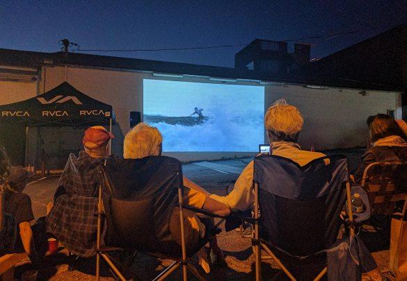 Wathching an Aussie surf movie