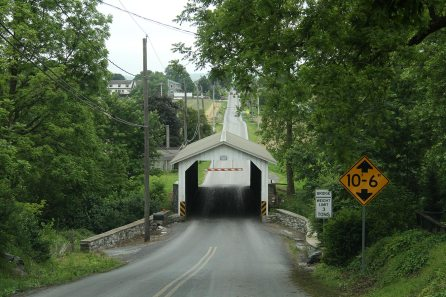 Covered bridge, an feature coming from their original home in Germany