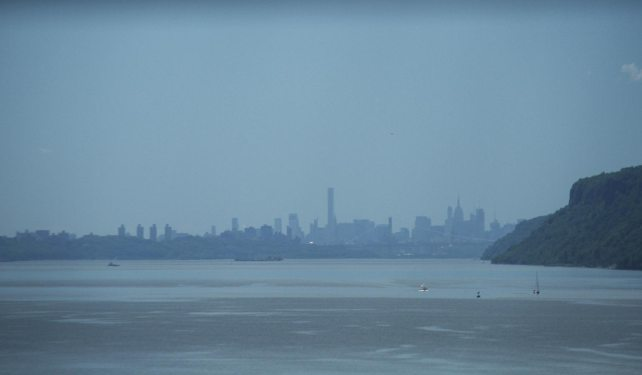 A last look at NY when we left yesterday