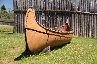 A traditional canoe