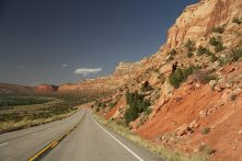 On scenic byway 12 to Natural Bridges