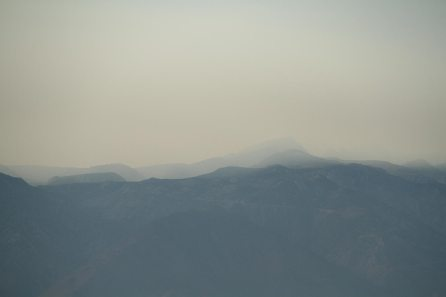 Smoke and pollution on the Sierra Nevada