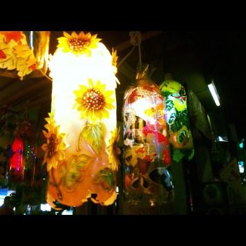 lampy z plastikowych butelek