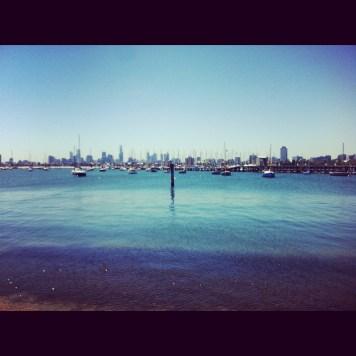 St Kilda i widok na miasto