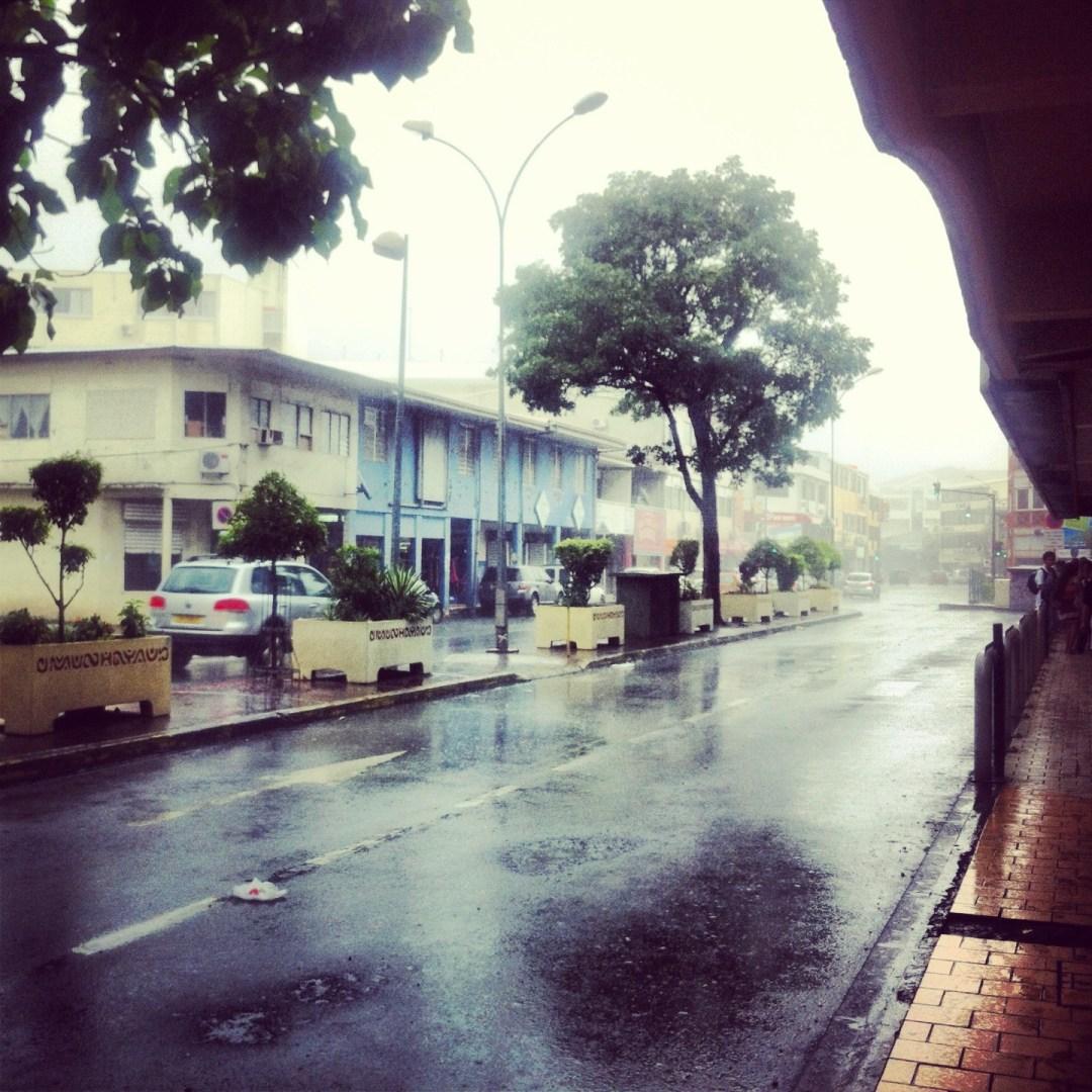 Papeete w deszczu