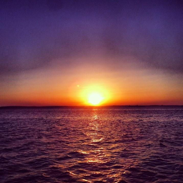 zachód słońca w Cienfuegos