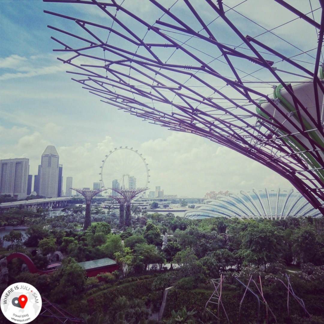 widok na Gardens By the Bay