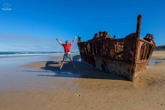 wrak statku na Fraser Island