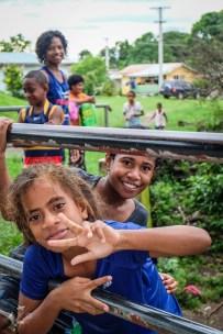 Miejscowi na wyspie Taveuni