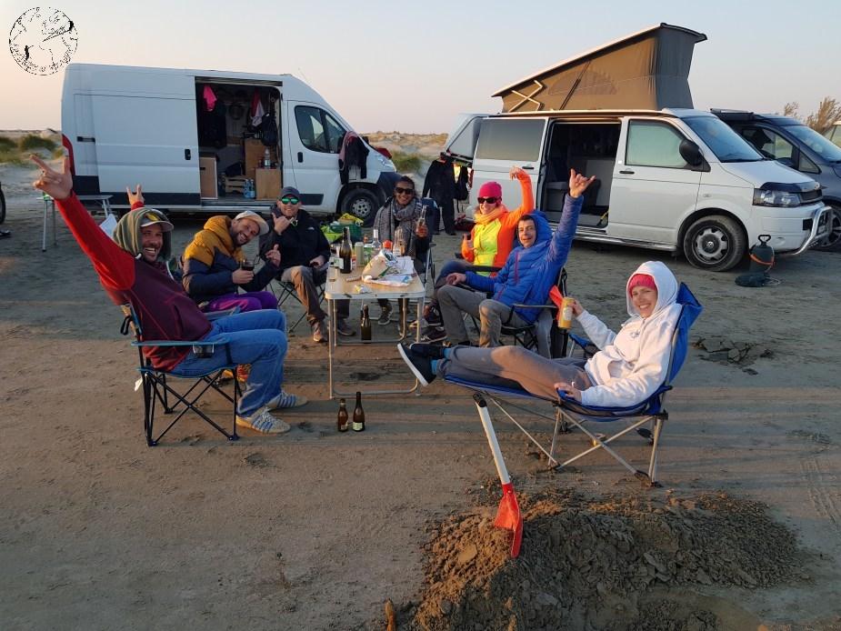 Beauduc en mode camping vanlife en France sur les spots de kitesurf