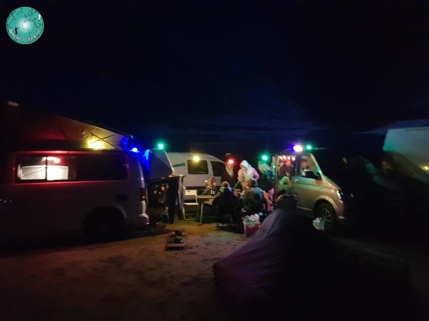 Campement de Beauduc en France, vanlife