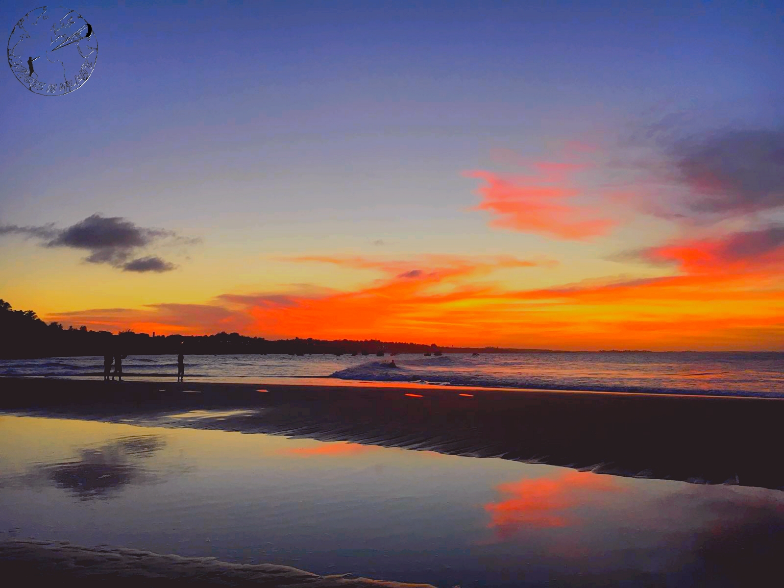 Plage de Paracuru au Brésil, sunset