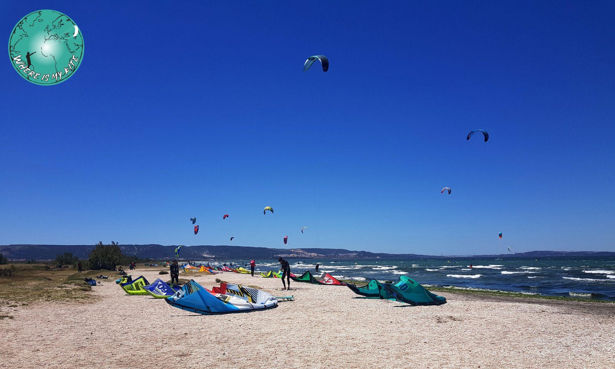 Spot de kite décollage le Jai en France, kitesurf vantrip