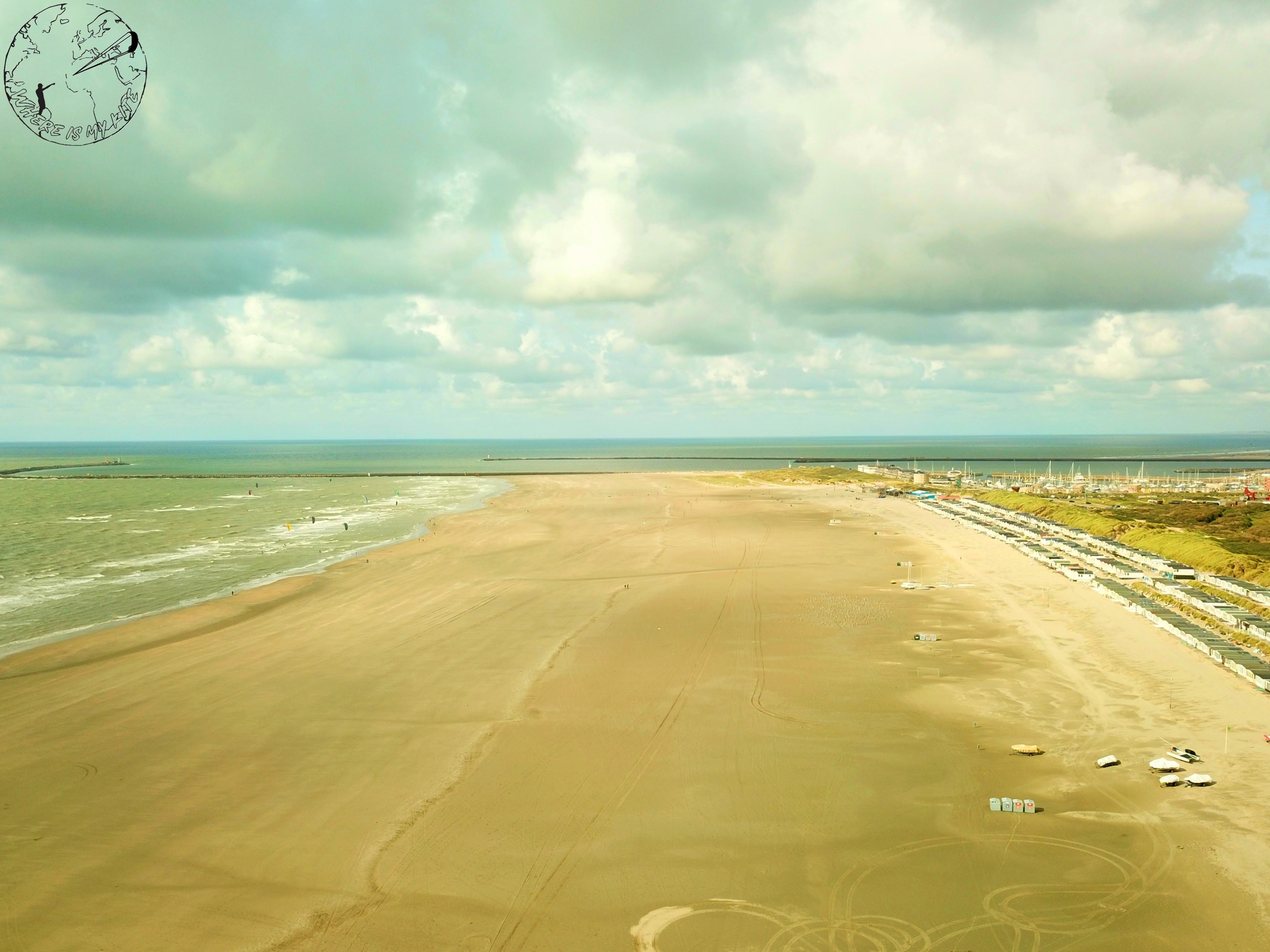 Spot de kitesurf en Hollande à UIjmuiden, vantrip avec la kite family