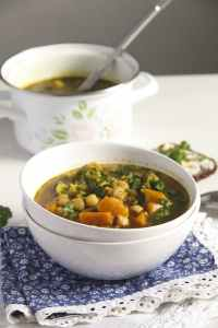 %name Broccoli Chickpea Soup with Sweet Potatoes and Turmeric