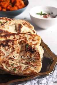 %name Soft Afghan Naan Bread with Yogurt and Nigella Seeds