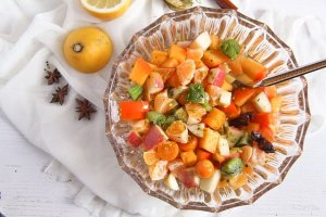 %name Winter Fruit Salad with Cinnamon Star Anise Dressing
