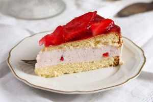 %name Strawberry Cheesecake with Cream Cheese and Yogurt Filling
