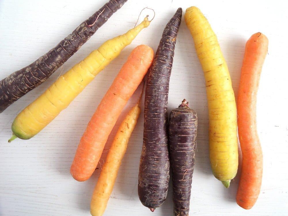 carrots colorful Honey Glazed Carrots With Tahini Greek Yogurt Dip