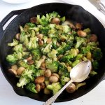 Broccoli and Mushrooms with Blue Cheese