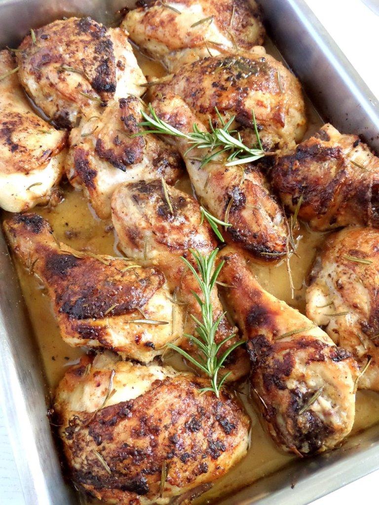 chicken mustard honey 768x1024 Amazing Baked Chicken Legs in Honey Mustard Sauce