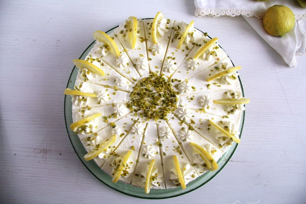lemon torte Amazing Lemon or Lime Buttermilk Torte   German Recipe