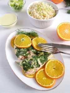 %name orange salmon herbs