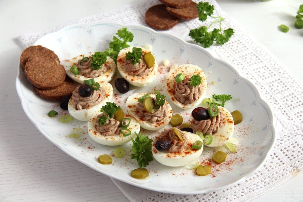 deviled eggs romanian pate Romanian Easter Chicken Drob or Pastete   Drob de pui
