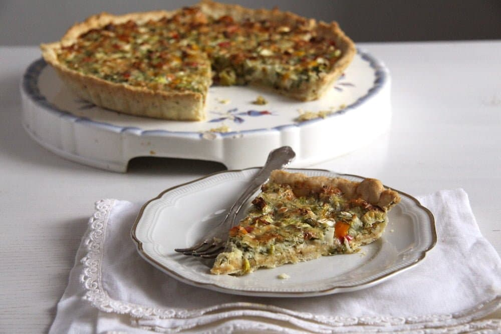 quiche cheese onions Green Onion and Cheese Quiche with Peppers and Dill